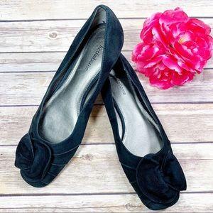 Liz Claiborne Piper Black Suede Leather Shoes 8
